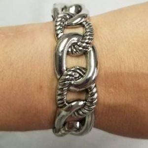 🔥2/$30🔥Bold Move Silver Hinge Bracelet